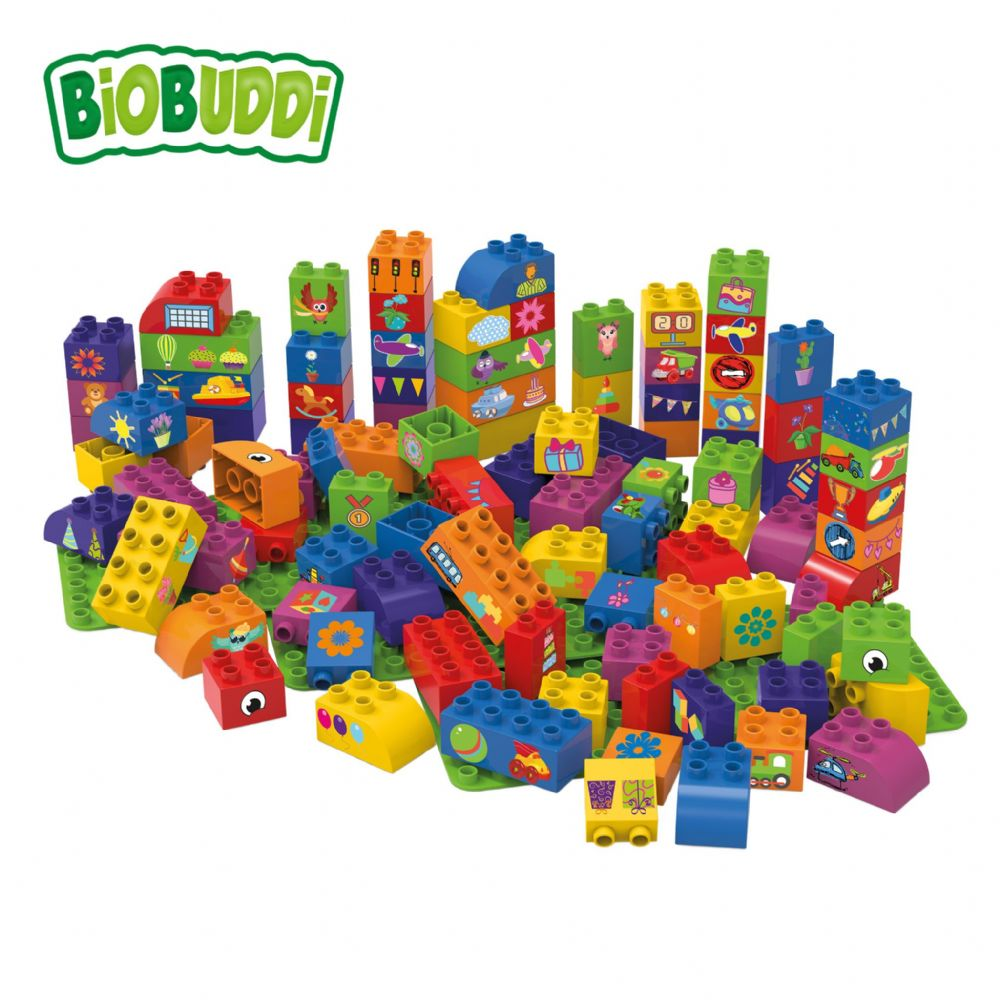 BiOBUDDi - 100 Blocks with 3 baseplates